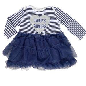 Girls Quiltex Daddy's Princess Tutu Dress Size 12M